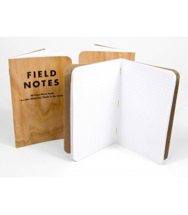 Field Notes Three Cherry Wood