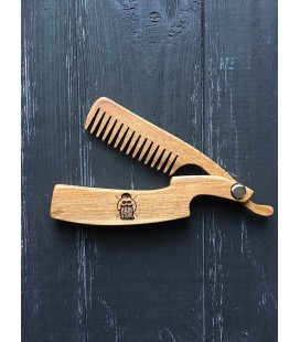 Расческа складная деревянная HAIRSTUFF опасная бритва