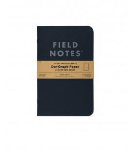 Field Notes Pitch Black (большие, точка)
