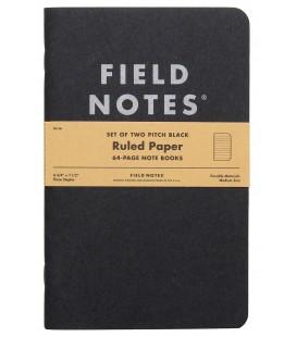 Field Notes Pitch Black (большой, линия)